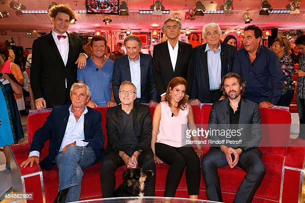 Eric Antoine Francis Ginibre Michel Drucker Jacques Weber Eric Carriere main guest of the show Michel Boujenah Laurent Ruquier Lea Salame and Aymeric...