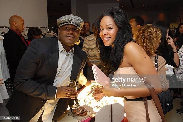 Eric Archibald and Alexis Phifer attend Stella McCartney's Store Christmas Lighting Hosted By Kanye West at Beverly Hills on December 5 2006