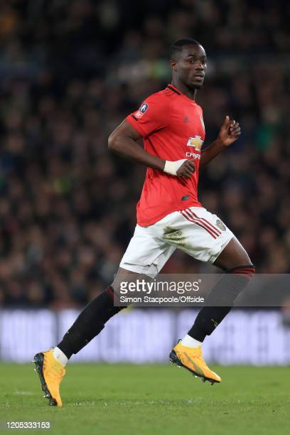 Eric Bailly of Man Utd looks on during the FA Cup Fifth Round match between Derby County and Manchester United at Pride Park on March 5 2020 in Derby...