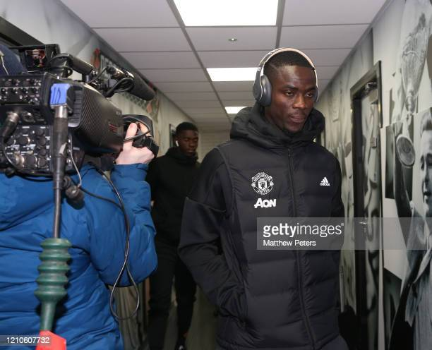 Eric Bailly of Manchester United arrives ahead of the FA Cup Fifth Round match between Derby County and Manchester United at Pride Park on March 05...