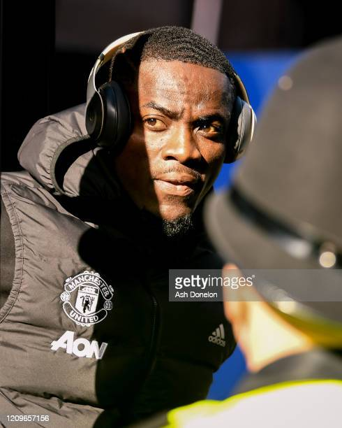 Eric Bailly of Manchester United arrives ahead of the Premier League match between Everton FC and Manchester United at Goodison Park on March 01 2020...