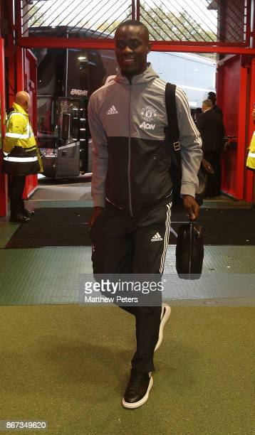 Eric Bailly of Manchester United arrives ahead of the Premier League match between Manchester United and Tottenham Hotspur at Old Trafford on October...