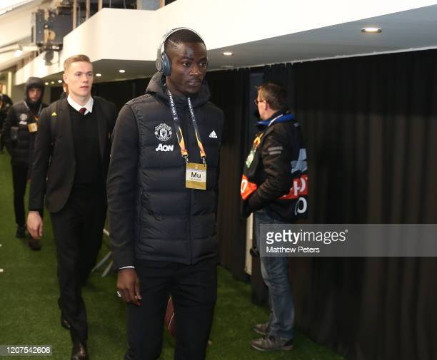 Eric Bailly of Manchester United arrives ahead of the UEFA Europa League round of 32 first leg match between Club Brugge and Manchester United at Jan...