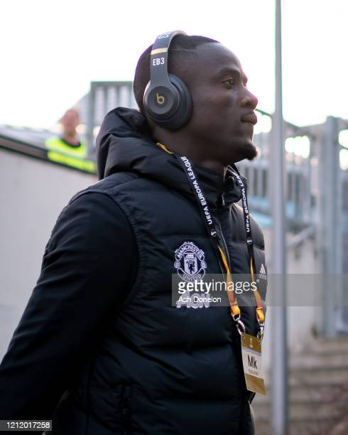 Eric Bailly of Manchester United arrives ahead of the UEFA Europa League round of 16 first leg match between LASK and Manchester United at Linzer...