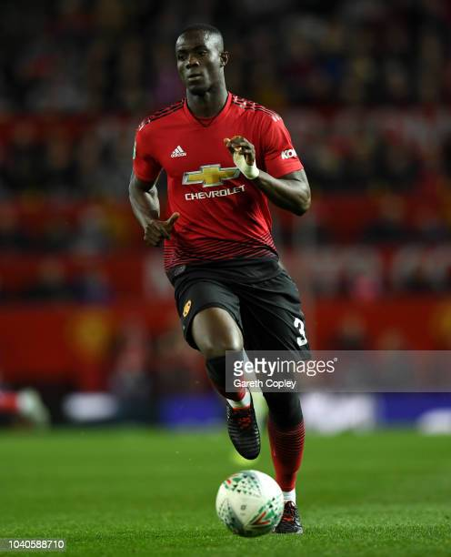Eric Bailly of Manchester United during the Carabao Cup Third Round match between Manchester United and Derby County at Old Trafford on September 25...