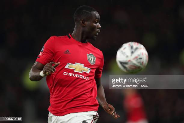 Eric Bailly of Manchester United during the FA Cup Fifth Round match between Derby County and Manchester United at Pride Park on March 5 2020 in...