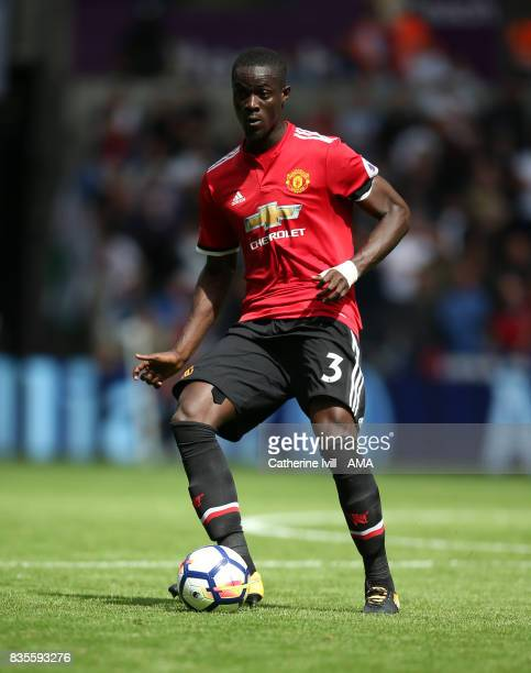 Eric Bailly of Manchester United during the Premier League match between Swansea City and Manchester United at Liberty Stadium on August 19 2017 in...