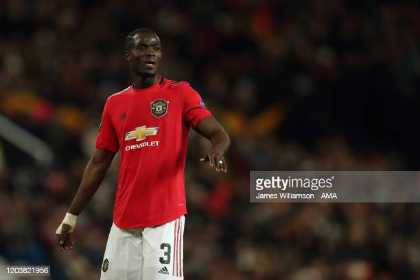 Eric Bailly of Manchester United during the UEFA Europa League round of 32 second leg match between Manchester United and Club Brugge at Old Trafford...