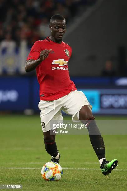 Eric Bailly of Manchester United in action during a preseason friendly match between Manchester United and Leeds United at Optus Stadium on July 17...