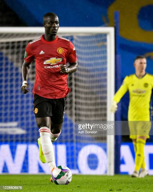 Eric Bailly of Manchester United in action during the Carabao Cup fourth round match between Brighton and Hove Albion and Manchester United at Amex...