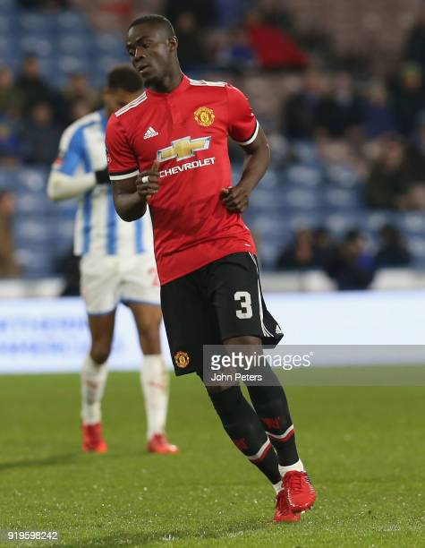 Eric Bailly of Manchester United in action during the Emirates FA Cup Fifth Round match between Huddersfield Town and Manchester United at Kirklees...