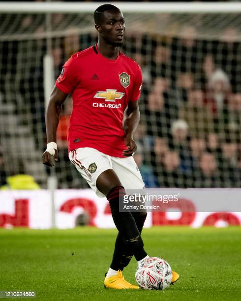 Eric Bailly of Manchester United in action during the FA Cup Fifth Round match between Derby County and Manchester United at Pride Park on March 05...