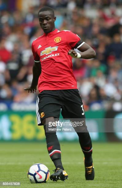 Eric Bailly of Manchester United in action during the Premier League match between Swansea City and Manchester United at Liberty Stadium on August 19...