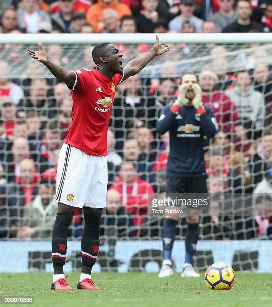 Eric Bailly of Manchester United in action during the Premier League match between Manchester United and Liverpool at Old Trafford on March 10 2018...
