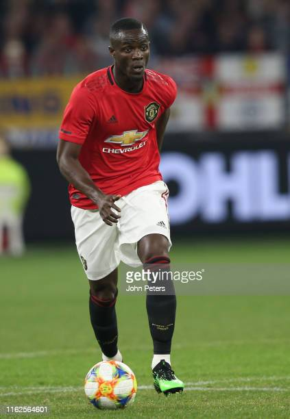 Eric Bailly of Manchester United in action during the preseason friendly match between Manchester United and Leeds United at Optus Stadium on July 17...