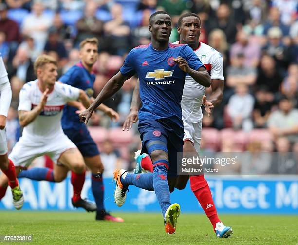Eric Bailly of Manchester United in action during the preseason friendly match between Wigan Athletic and Manchester United at JJB Stadium on July 16...
