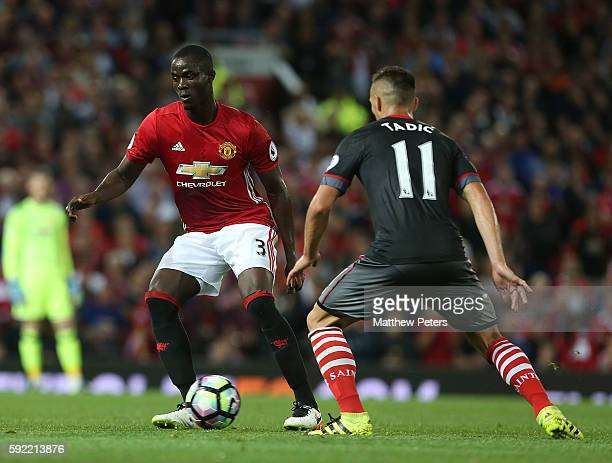 Eric Bailly of Manchester United in action with Dusan Tadic of Southampton during the Premier League match between Manchester United and Southampton...