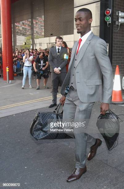 Eric Bailly of Manchester United leaves the team hotel ahead of the Emirates FA Cup Final match between Manchester United and Chelsea at Wembley...