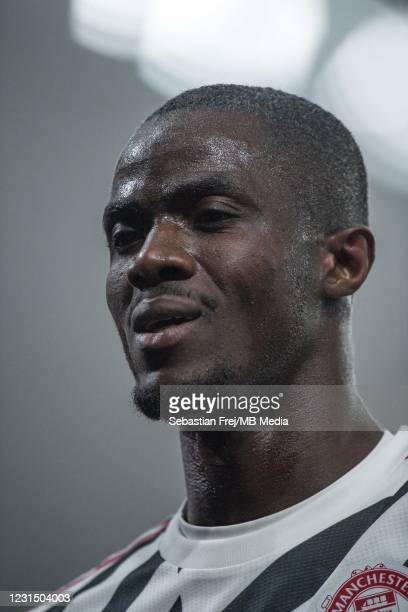 Eric Bailly of Manchester United looks on during the Premier League match between Crystal Palace and Manchester United at Selhurst Park on March 3,...