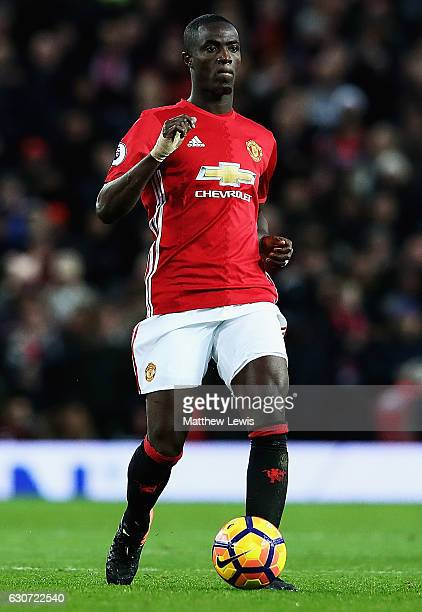 Eric Bailly of Manchester United looks on during the Premier League match between Manchester United and Middlesbrough at Old Trafford on December 31...