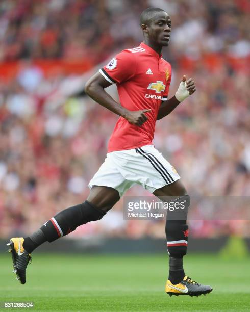 Eric Bailly of Manchester United looks on during the Premier League match between Manchester United and West Ham United at Old Trafford on August 13...