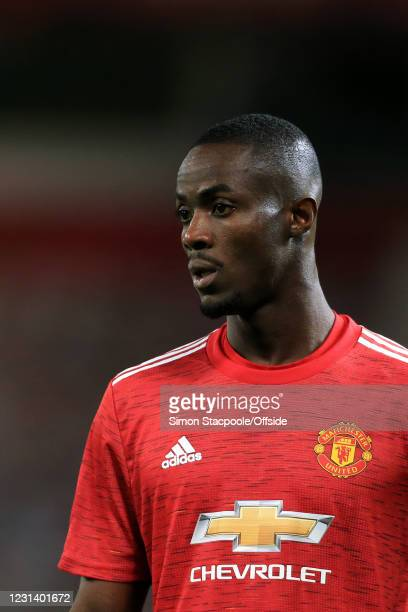 Eric Bailly of Manchester United looks on during the UEFA Europa League Round of 32 Leg Two match between Manchester United and Real Sociedad at Old...