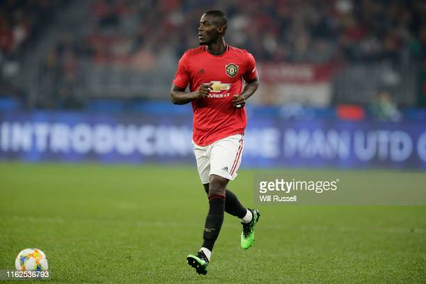 Eric Bailly of Manchester United looks to pass the ball during a preseason friendly match between Manchester United and Leeds United at Optus Stadium...