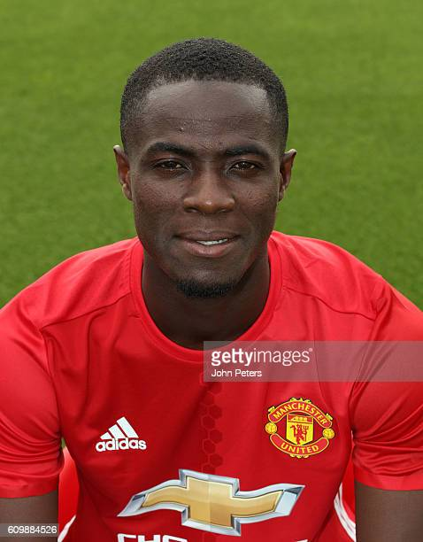Eric Bailly of Manchester United poses for a portrait at the Manchester United Official Photocall on September 19 2016 in Manchester England