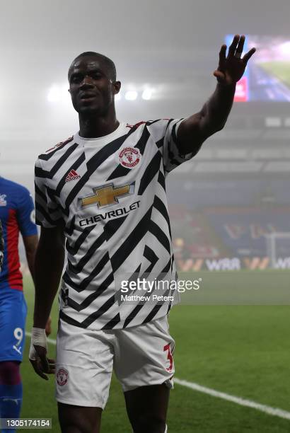 Eric Bailly of Manchester United walks in at half time during the Premier League match between Crystal Palace and Manchester United at Selhurst Park...