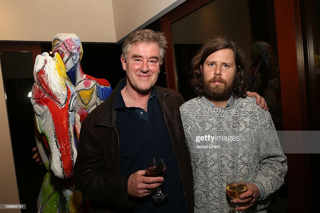 Eric Bainbridge and Ry Rocklen attend the Art Los Angeles Contemporary Reception at the home of Gail and Stanley Hollander on January 23, 2013 in Los Angeles, California.