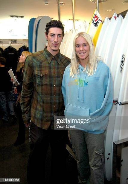Eric Balfour and Bethany Hamilton during Rip Curl Santa Monica Store Grand Opening at Rip Curl Santa Monica in Santa Monica California United States