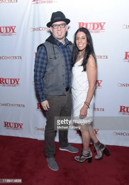 Eric Ball and Cheryl Ruettiger attend the Rudy In Concert 25th Anniversary Celebration presented by CineConcerts at Microsoft Theater on March 30...