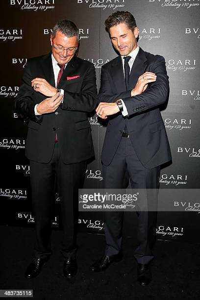 Eric Bana and Bvlgari CEO JeanChristophe Babin attend the 130th Anniversary of Bvlgari Gala Dinner on April 10 2014 in Sydney Australia