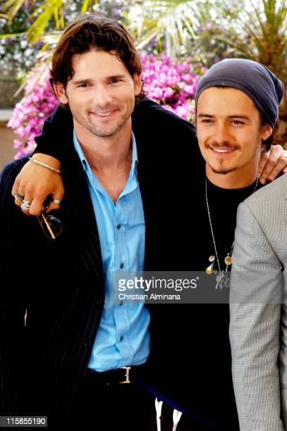 Eric Bana and Orlando Bloom during 2004 Cannes Film Festival Troy Photocall at Palais du Festival in Cannes France