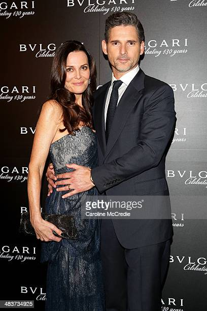 Eric Bana and Rebecca Gleeson attend the 130th Anniversary of Bvlgari Gala Dinner on April 10 2014 in Sydney Australia