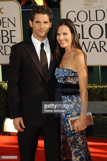 Eric Bana and Rebecca Gleeson attend The 63rd Annual GOLDEN GLOBE AWARDS Red Carpet Arrivals at The Beverly Hilton on January 16 2006 in Beverly...