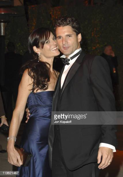 Eric Bana and Rebecca Gleeson during 2006 Vanity Fair Oscar Party at Morton's in West Hollywood California United States