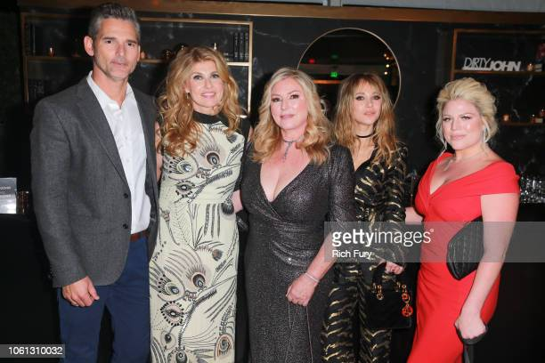 Eric Bana Connie Britton Debra Newell Juno Temple and Terra Newell attend the after party for Bravo's anthology series Dirty John world premiere at...