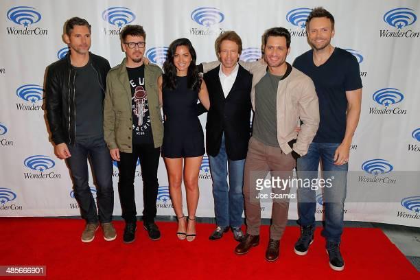 Eric Bana Scott Derrickson Olivia Munn Jerry Bruckheimer Edgar Ramirez and Joel McHale attend the Sony Pictures' 'Deliver Us From Evil' Cast...
