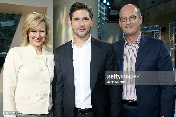 Eric Bana with hosts Melissa Doyle and David Koch during Eric Bana Visits Sunrise May 30 2007 at Channel 7 in Sydney NSW Australia