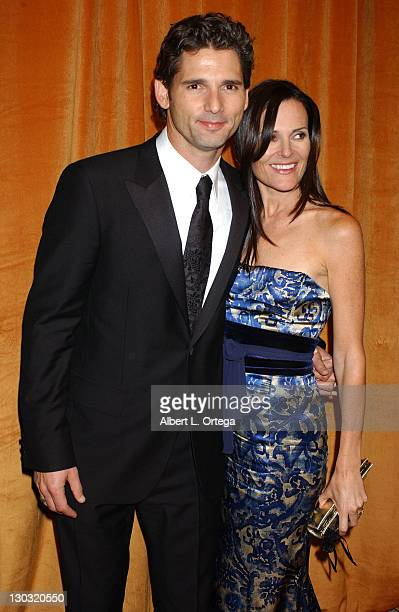 Eric Bana with wife Rebecca Gleeson during The Weinstein Co/Glamour 2006 Golden Globe After Party Arrivals at Trader Vic's in Beverly Hills...