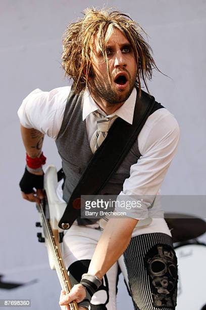 Eric Bass of Shinedown performs during the 2009 Rock On The Range festival at Columbus Crew Stadium on May 17 2009 in Columbus Ohio