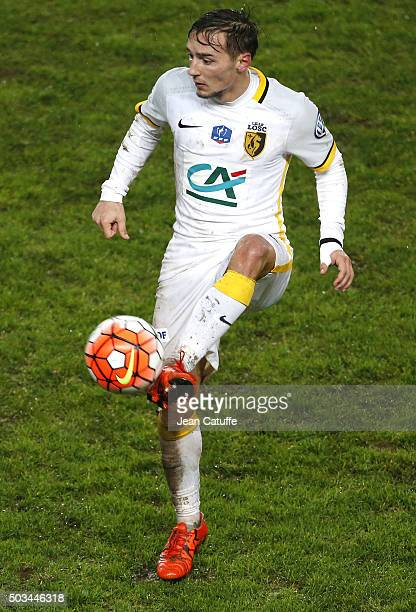 Eric Bautheac of Lille in action during the French Cup match between Amiens AC and Lille LOSC at Stade de la Licorne on January 3 2016 in Amiens...