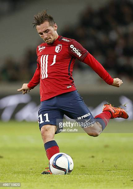 Eric Bautheac of Lille in action during the French Ligue 1 match between Lille OSC and AS SaintEtienne at Stade Pierre Mauroy on December 2 2015 in...