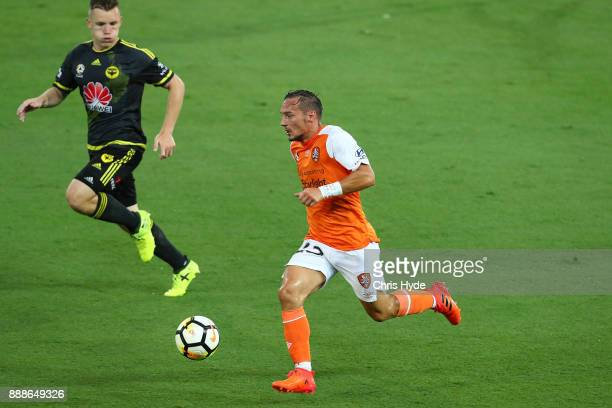 Eric Bautheac of the Roar controls the ball during the round 10 ALeague match between the Brisbane Roar and the Wellington Phoenix at Cbus Super...