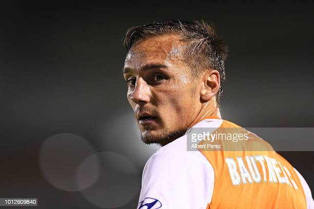 Eric Bautheac of the Roar looks on during the FFA Cup round of 32 match between Brisbane Roar and Melbourne City at Dolphin Stadium on August 7 2018...