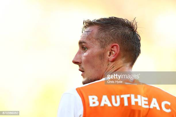 Eric Bautheac of the Roar looks on during the round five ALeague match between the Brisbane Roar and the Central Coast Mariners at Suncorp Stadium on...