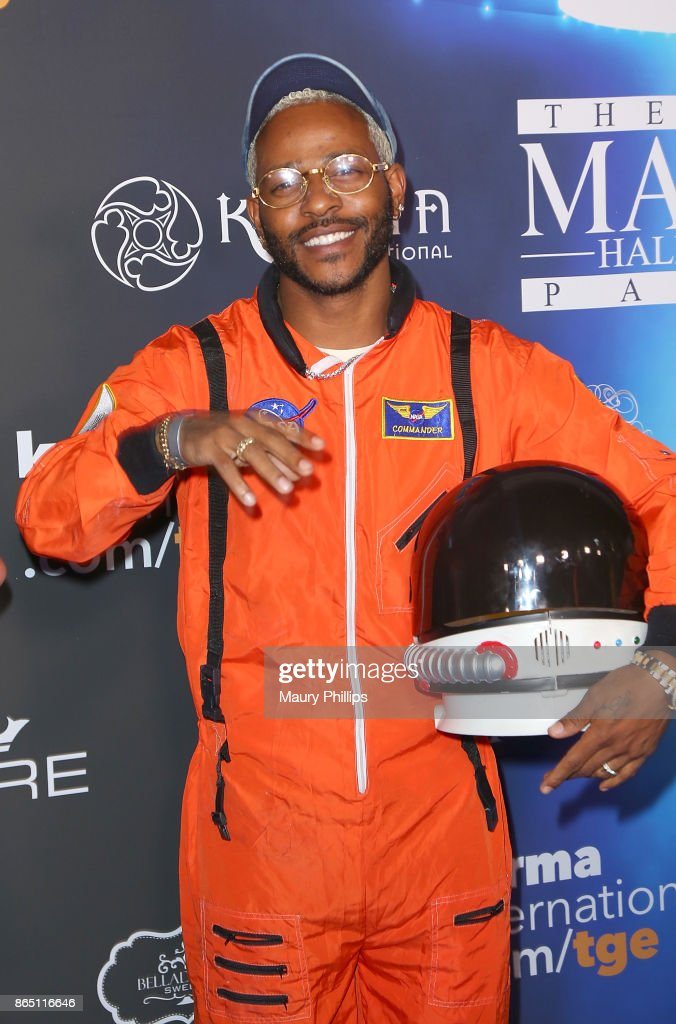 Eric Bellinger arrives at the 2017 Maxim Halloween Party at Los Angeles Center Studios on October 21, 2017 in Los Angeles, California.