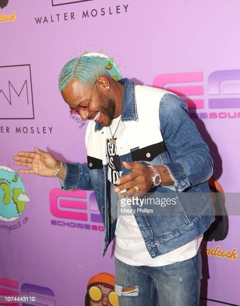 Eric Bellinger attends Echoing Soundz and Walter Mosley Firm Fa La La Holiday Bash on December 19 2018 in Los Angeles California