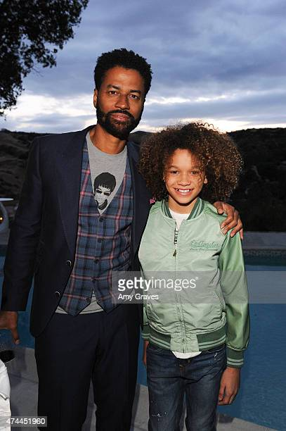 Eric Benet and Armani Jackson attend the Mission Save Her's Private Party Hosted by Eric Benet and Reggie Benjamin at a Private Residence on May 22...